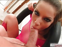Slut in sexy pink boots has anal sex tubes