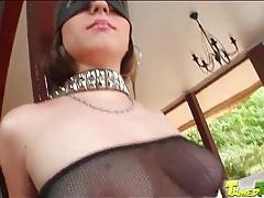 Sexy bondage and fishnets on beauty tubes
