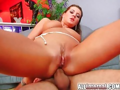 Cute brunette chick has hot anal sex tubes