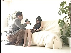 Submissive young lady inspected by his camera tubes