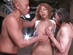 Japanese pussy eaten out and fingered tubes