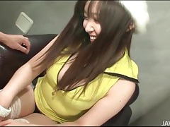 Close up exam of curvy japanese body tubes
