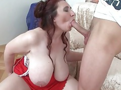 Bbw with big saggy tits sucks cock tubes