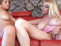 Moms with big boobs flirt in lesbian porn tubes