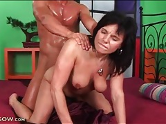 Dude is super sweaty from fucking a hot milf tubes