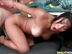 Curvy asian with a splendid ass rides dick tubes