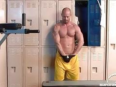 Hot muscular solo guy in a jockstrap tubes