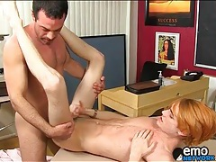 Teacher fucks cute twink in his classroom tubes