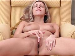 Sensual solo girl strips nude and masturbates tubes