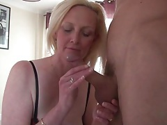 Beautiful big tits blonde mature sucks dick tubes