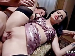 Flawless beauty in erotic lingerie has big cock sex tubes