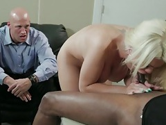 Bimbo wife fucked by bbc as husband watches tubes