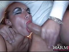 Flexible ballerina fucked in a kinky threesome tubes