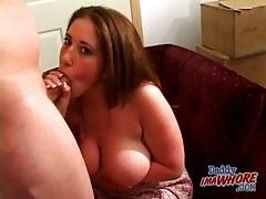Big breasts curvy sweetheart sucks a dick tubes