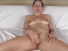 Lelu love masturbates her pussy with your cum tubes