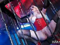 Cage slave finger fucked by her mistress tubes