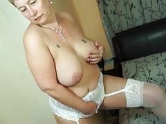 Short hair bbw fondles her fat tits tubes