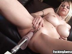 Two big dildos dp this busty blonde slut tubes