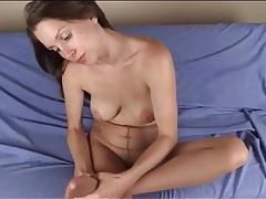 Pantyhose footjob from sexy lelu love tubes