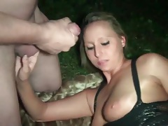 Outdoor gangbang of a slutty blonde girl tubes