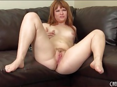 Big butt redhead fucks a toy into her hot cunt tubes