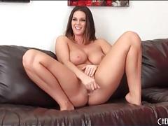 Chunky chick with big tits masturbates solo tubes