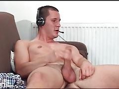 Hot guys stroke their cocks in webcam show tubes