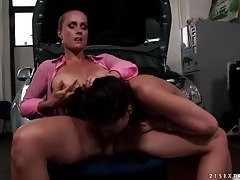 Mistress fingers tight asshole of cute girl tubes