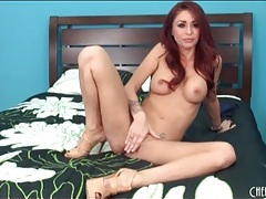 Monique alexander strips off her panties and plays tubes