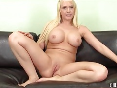 Solo kagney linn karter plays with a vibrator tubes