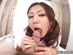Tender pov blowjob from a japanese nurse tubes