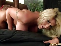 Black dude owns her milf pussy with deep thrusts tubes