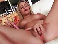 Mia malkova buzzes her clit with a toy tubes
