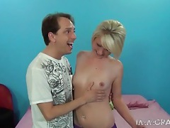 Blonde cutie winter marie licked on her hot pussy tubes