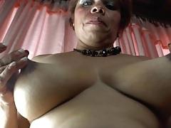 Latina mature plays with her natural tits tubes