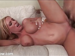 Blonde mom with nice boobs fucked in her box tubes