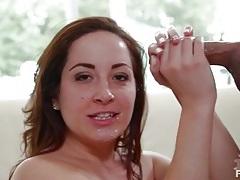 Brown eyed cutie marley blaze sucks off cock tubes