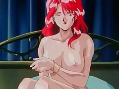 Cartoon redhead sucks cum from his hard cock tubes