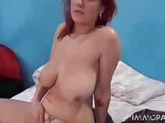 Hard cock fucks big breasts redhead slut tubes