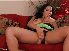 Curvy kiara mia caresses her tits and masturbates tubes