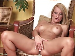 Tight body mom with fake titties fingers cunt tubes