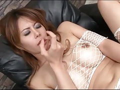 Japanese nurse is gorgeous in pink lingerie tubes