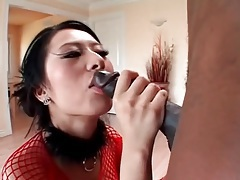 Breathtakingly gorgeous asian sucks black cock tubes