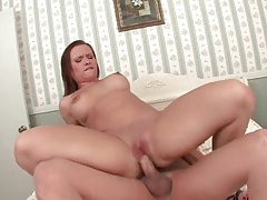 Curvy katja kassin sucks and sits on dick tubes