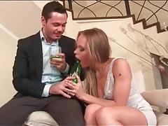 Teen in a smoking hot little dress sucks dick tubes