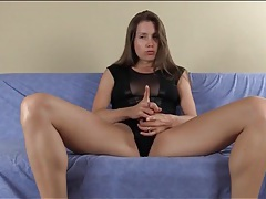 Sensual cum eating instructions from a babe tubes