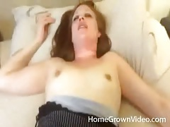 Homemade missionary fuck with young couple tubes