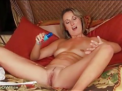 Milf misty law strips from her sexy dress tubes