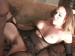 Chanel preston interracial sex in black lingerie tubes