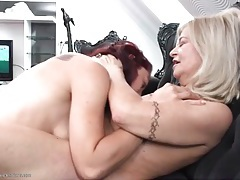 Small tits mature makes out with young redhead tubes